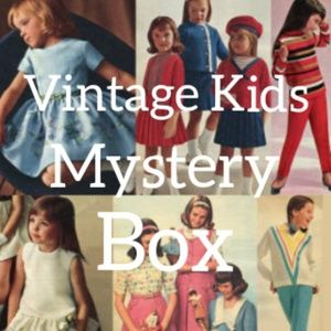 Vintage Baby Toddler Child Clothing Mystery Box